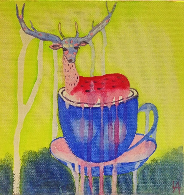 Deer in a teacup