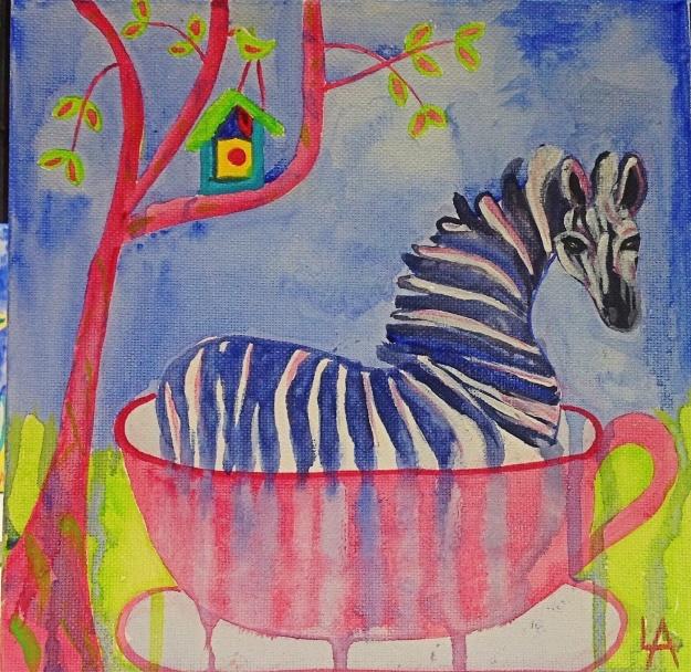 Zebra in a tea cup